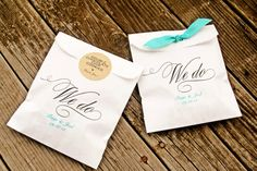 We Do - Paper Favor Bags - Wedding Cookie, Cake, or Candy Buffet Bag - Wax Lined Bags - 25 White Bags on Etsy, £17.17