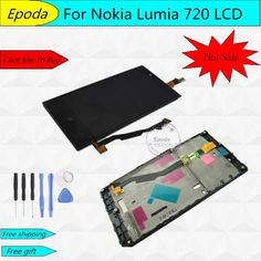 18.88$  Watch now - http://alibk3.shopchina.info/go.php?t=32769340575 - 100% Guarantee for Nokia Lumia 720 LCD Screen Display With Touch+Frame+Free Tools Full Assembly 4.3 Inch 1 Piece Free Shipping 18.88$ #buymethat
