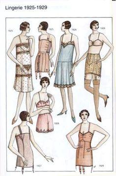 La mode des années folles - Lingerie.