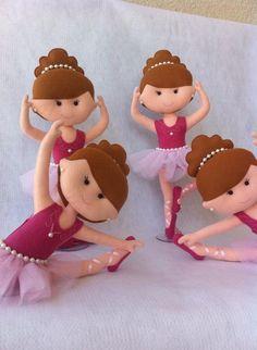 Bailarinas em Feltro - Decoração