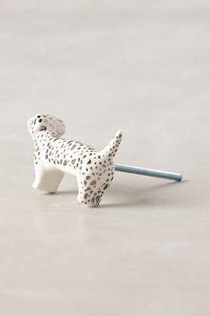 Furry Companion Knob - anthropologie.com