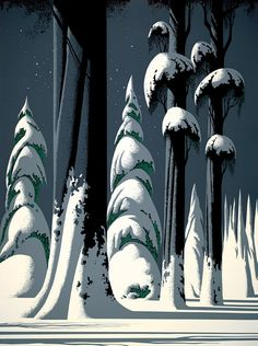 Yosemite :: Eyvind Earle it's geometric & poignant - i don't usually put these together...