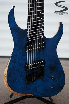 Skervesen 9 string guitar!