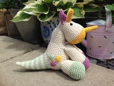 Tracy the triceratops my new pattern...out soon