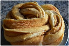 Bread, cinnamon, flour, Non- vegetarian, easy cooking, Russian Braid, Caucasian Bread, turban bread, Cinnamon Rose Bread