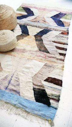 Vintage Moroccan Kilim  BOUCHEROUITE Rug  natural por lacasadecoto
