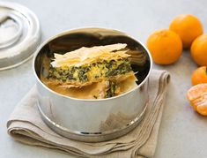 Mario Batali's Swiss Chard Spanakopita Pie is a delicious twist on a classic favorite
