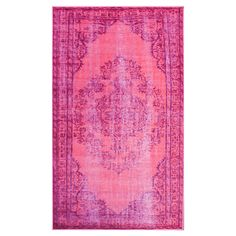 overdyed pink rug 5x8 $188