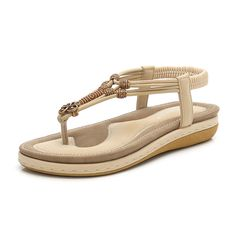 Large Size Women Comfy Soft Beach Flip Flops Sandals is comfortable to wear. Shop on NewChic to see other cheap women sandals on sale. Beach Flip Flops, Flip Flop Sandals, Wedge Sandals, Beautiful Sandals, Sandals For Sale, Cheap Sandals, Loafer Shoes, Women's Shoes, Beach Sandals