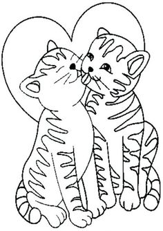 cat color pages printable | 1001 coloringpages : animals