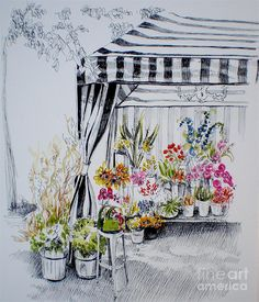 """""""The Flower Stand """"  by Dominique Eichi"""