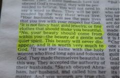 Every girl needs to read this! 1 Peter 3:3-4