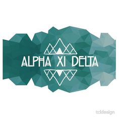 Alpha Xi Delta Mountains by tcldesign