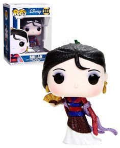 Disney Mulan Mulan (Glitter) - Diamond Collection - New, Mint Condition - Trend Parks Disney 2020 Disney Pop, Disney Girls, Funko Pop Figures, Pop Vinyl Figures, Pop Figurine, Pop Toys, Pop Collection, Conditioner, Funko Pop Vinyl