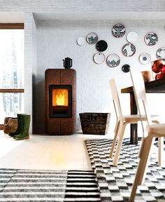 New Collection of Scandinavian inspired Stoves by MCZ toba pellet stove 1
