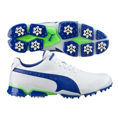 a17294dbfb6645 Puma TitanTour Ignite Golf Shoes White-Blue SS16 All About Shoes