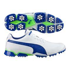 Puma TitanTour Ignite Golf Shoes White-Blue SS16