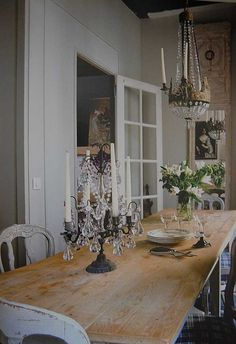#French #Rustic mix.  Nice, unpretentious dining.