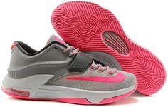 new product 60e16 869b1 Nike KD VII 7 White Grey Pink Cheap Nike Running Shoes, Buy Nike Shoes,