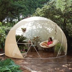 nice Great Multi-purpose Garden Igloo  #Garden #kids #Patio #Shed  What if you could enjoy your garden shed throughout the year? This is the promise made by Garden Igloo. Igloo Dome Garden, multifunctional, versati...