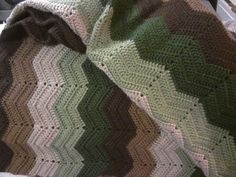 Camo color blanket for Cayden