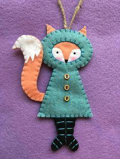 Felt BundledUpFox Ornament