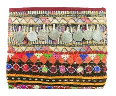 Banjara Coined Pouch from be-snazzy.com. Handmade in India using vintage embroidery by the Banjara tribe. Each piece is one-of-a-kind <3 #boho #ethnic #clutch #Summer http://be-snazzy.com/banjara-coined-pouch