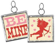 Primitives By Kathy Miniature Charm Ornament Cupid Valentine Be Mine