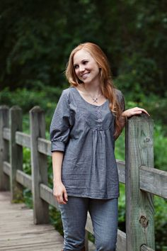 The Esme Top Sewing Pattern by SewLiberatedPatterns on Etsy, $14.95
