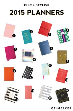 Chic & Stylish 2015 Planners | Of Mercer