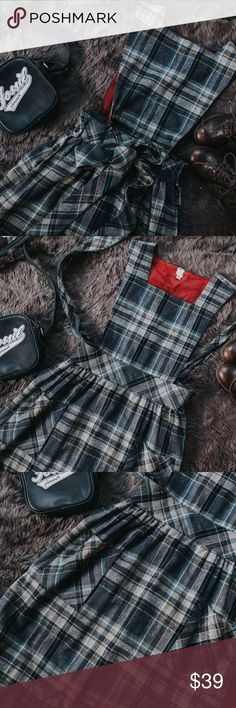 """ILGWU Vintage Plaid Jumper with Union Tag This vintage GEM!! In amazing condition and so on trend with the current plaid craze. The measurement are waist 25"""", length from shoulder to hem 42"""", and from shoulder to waist it is 12 1/2"""" ❤️❤️ No flaws! Vintage Dresses"""