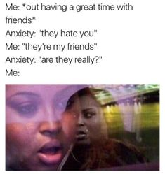 Anxiety sucks but at least we can all feel better laughing at some memes? Anxiety sucks but at least we can all feel better laughing at some memes? All Meme, Stupid Funny Memes, Funny Relatable Memes, Funny Comebacks, 9gag Funny, It's Funny, Mau Humor, Mike Wazowski, Depression Memes