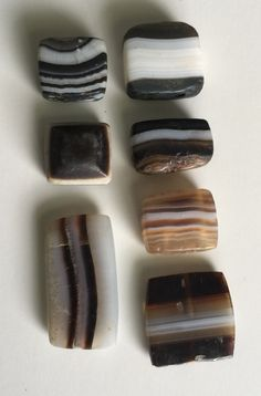 Agate spacer beads, Indus Valley, 3rd-2nd millennium BC