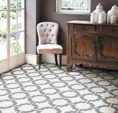 This geo print woukld be a stunning kitchen floor - durable too - Neisha Crosland Parquet @ Harvey Maria