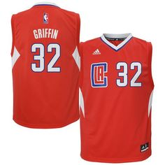 Blake Griffin LA Clippers adidas Youth Replica Jersey - Red - $49.99