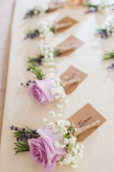 Wonderfully Whimsical: Introducing Flowers at the Barn. Purple rose button holes. Image by Hayley Rose Photography. Read more: http://bridesupnorth.com/2016/08/04/wonderfully-whimsical-introducing-flowers-at-the-barn/ #wedding #flowers