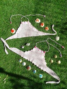 Top veraniego de crochet superfresquito para Ana y Elena, realizado por la tita Esperanci. Gracias tita!