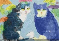 Walasse Ting (1929-2010) - Two cats