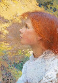 George Clausen, Head of a Young Girl, Rose Grimsdale, 1890