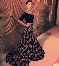 Parineeti Chopra wearing Manish Malhotra at a Fashion Show