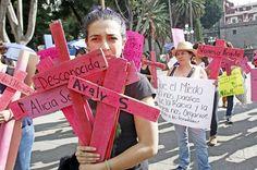 Protesta en Puebla por feminicidios