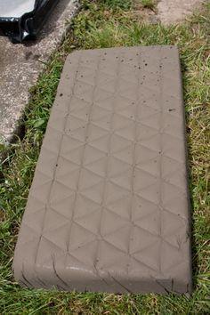 DIY Stepping Stones (using half flat plant trays) -  (free instructions & short video)