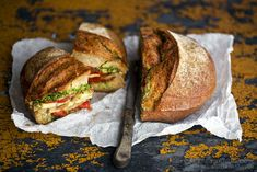 Tomato Confit, Pesto and Oven-Roasted Vegetable Sandwich -Just read thru this post and it looks SO GOOD. Includes recipes for quick and simple tomato confit and basil pesto-each of which stay good in the fridge for a week-and instructions for the sandwich, filled with roasted eggplant, zucchini or any other seasonal veggies that sound good and topped off with gruyere cheese. YUM.