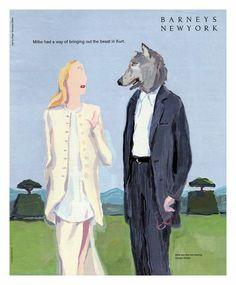 "Barneys New York - Ad., Wearing "" Giorgio Armani ""|© Jean-Philippe Delhomme"