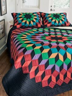 Clever bed quilt.