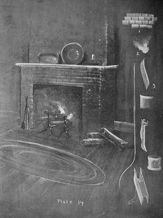 intérieure d'une maison  cheminée