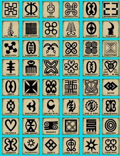 African symbols.... Humility and Strength