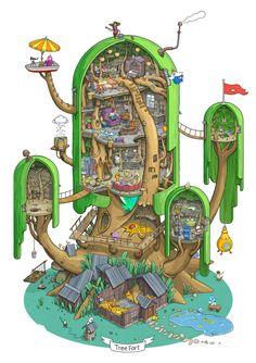 Tree Fort cutaway [hi-res photofudge] - Imgur