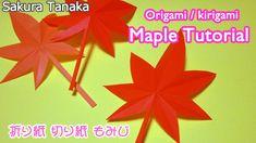 Kirigami Maple (Origami) / 切り紙 簡単 もみじ 作り方 (折り紙)