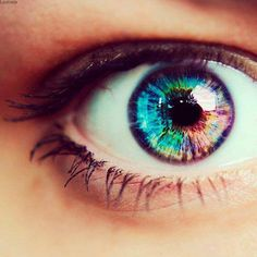 rainbow eye colorful colors blue eyes green eyes purple eyes fun photo